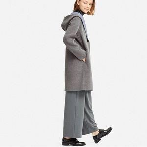b3a2faf75d7 Uniqlo Jackets & Coats   Women Double Face Hooded Coat   Poshmark